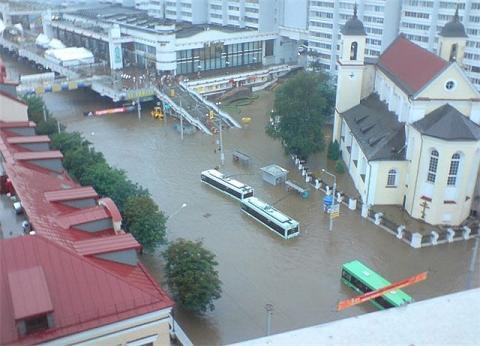 Потоп в Минске 24 июля 2009 года